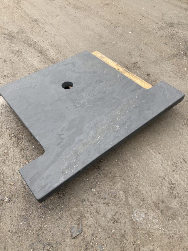 Welsh slate hearth dark blue grey