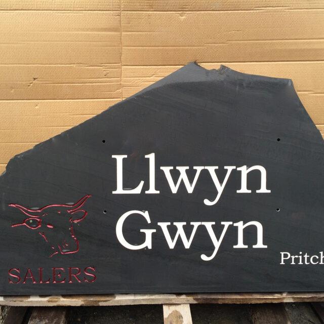LLD Slate Welsh Slate Commissioned Name
