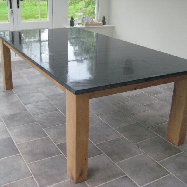 LLD Slate Welsh Slate Commissioned Oak Table