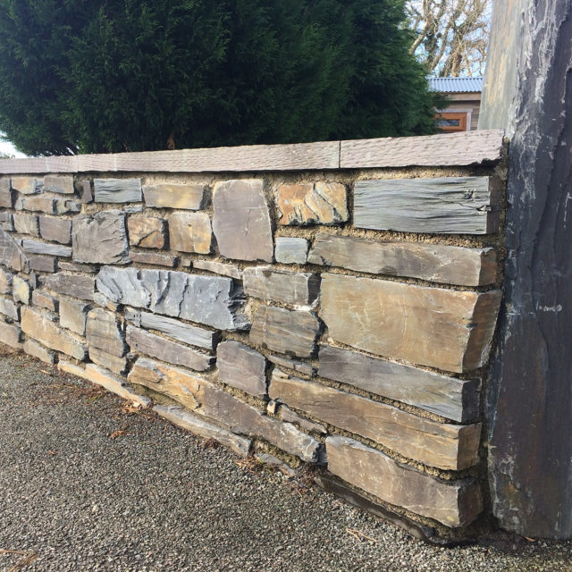 Rustic Welsh slate walling