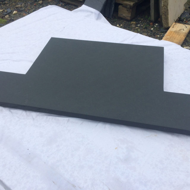 Natural top polished edges Brazilian t-shaped hearth