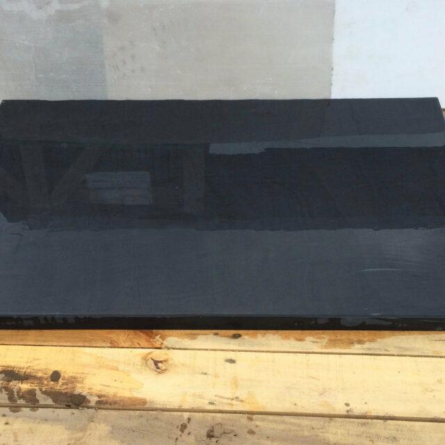 Polished T shaped Welsh slate hearth