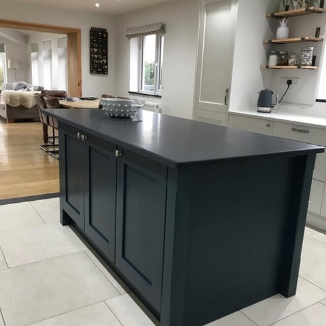 Welsh slate kitchen island