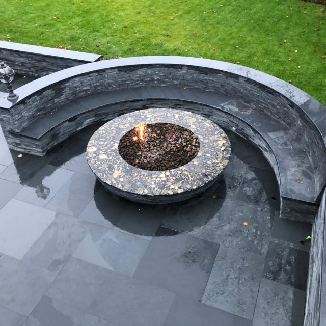 Welsh slate coping